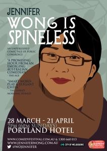 Poster for Jennifer Wong is Spineless
