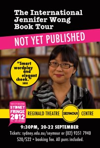 Flyer for The International Jennifer Wong Book Tour: Not Yet Published